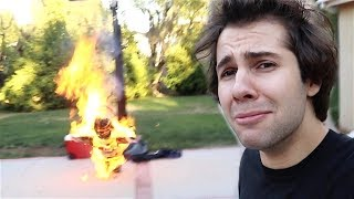 CAUGHT ON FIRE IN OUR BACKYARD!!