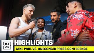 HIGHLIGHTS | Jake Paul vs. AnEsonGib Press Conference