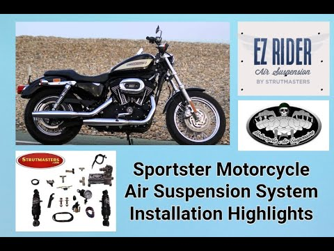 Harley Davidson Sportster Rear Air Shock Installation