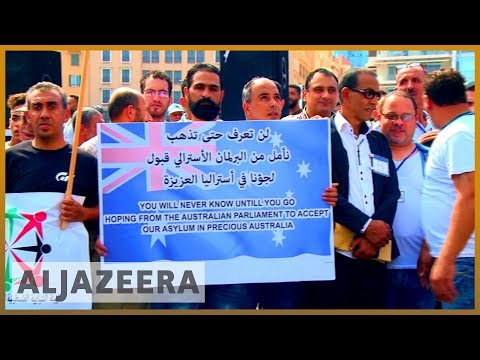 Palestinian refugees protest to demand asylum in Lebanon