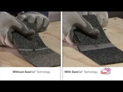 There's a line between a good shingle and a great shingle, and that line is the Surenail strip that Owens Corning has created. The patented Surenail technology applied to the Duration shingles allows for 130 mile wind resistance which means a safer roof over your head. Are you ready to take the Surenail challenge?