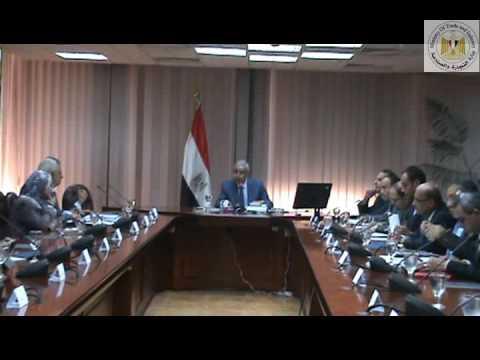 اجتماع الوزير/طارق قابيل مع ممثلى عدد من الوزارات لمناقشة المشروعات التى سيتم تنفيذها مع الصين