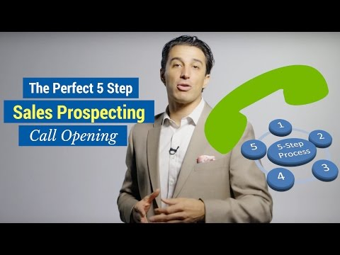 , title : 'The Perfect 5 Step Sales Prospecting Call Opening