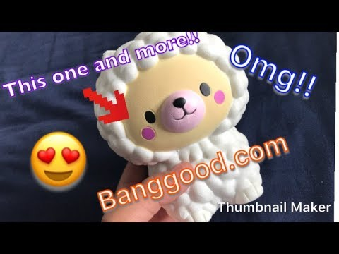Squishy package from Banggood!!