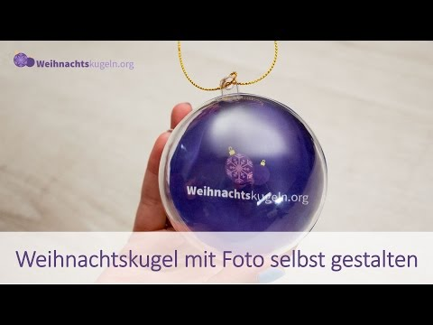 Weihnachtskugel mit Foto - selber basteln - Anleitung - Fotokugel