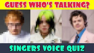 Guess Who's Talking? Celebrity Singers Voice Quiz