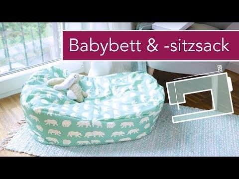 Mobiles Babybettchen / Kindersitzsack nähen