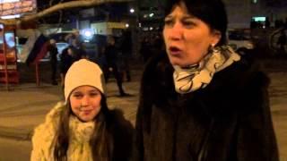 Крым. Референдум. Жители Симферополя празднуют