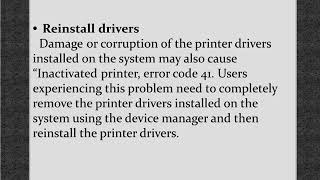 Steps for Brother Printer not activated error code 41
