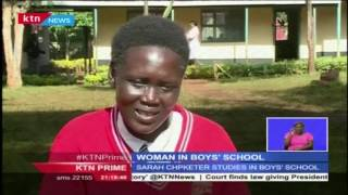 Sarah Chepketer is enrolled in an all boys' school in Uasin Gishu county