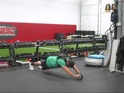 Standing Ab Wheel Rollouts