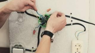 соединение проводов в коробке