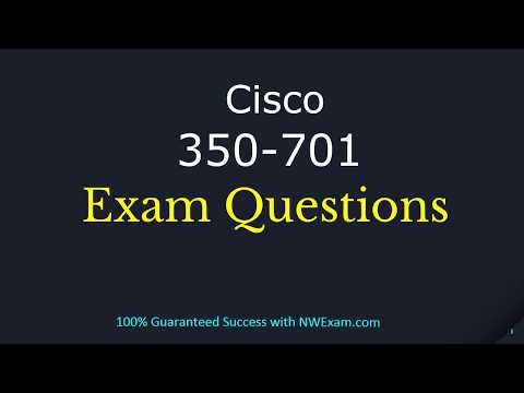 New Cisco 350-701 | CCNP Security Exam Question and Answers ...