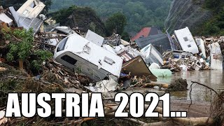 APOCALYPSE in AUSTRIA! Salzburg destroyed! Flood washed away houses, cars and people!