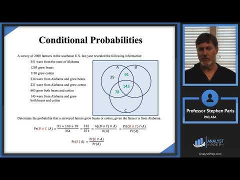 Conditional Probabilities (SOA Exam P – Probability – General ...