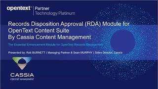 Records Disposition Approval Module For Content Suite video