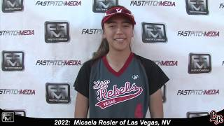 2022 Micaela Resler Speedy Slapper and Outfield Softball Skills Video - Lil Rebels
