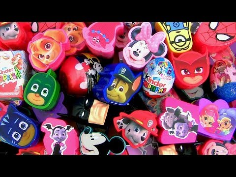 60 Surprise Eggs Disney Princess  Minnie Mickey Huevos Sorpresa