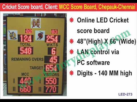 LED Cricket Score Board
