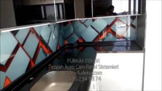 mutfak tezgah arası resimli 3d cam panel  modeller  üretim montaj  furkay dekor adana