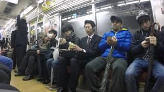 2015-04-08 On the underground, Tokyo