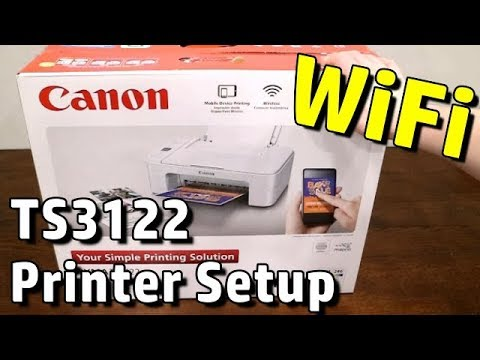 How to setup Canon Pixma TS3122 Printer with Wifi and Wireless Printing