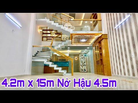 Nhà bán Gò Vấp| 4.5 x 15m Nhà phố đúc lững 3 lầu thiết kế tuyệt đẹp gần Công Viên Chợ Hạnh Thông Tâ