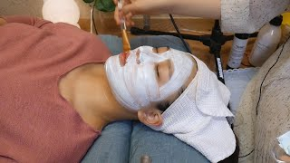 [ASMR] Getting real home aesthetic from my 17-year-old cousin 3 | face massage, plaster mask