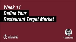 Target Market for Restaurants