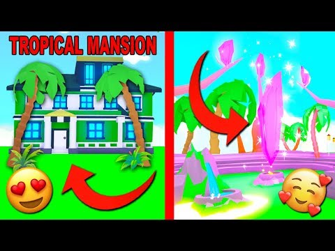 I Bought A TROPICAL Mansion In Adopt Me - NEW UPDATE! (Roblox)