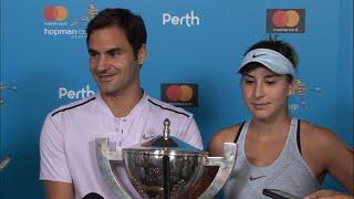 Belinda Bencic and Roger Federer winners press conference (Final) | Mastercard Hopman Cup 2018