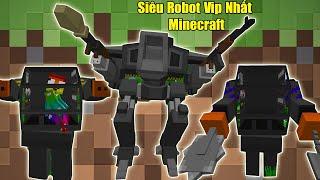 NẾU NOOB SỞ HỮU SIÊU ROBOT VIP NHẤT MINECRAFT ** NOOB CHẾ TẠO SIÊU ROBOT VIP TRONG MINECRAFT