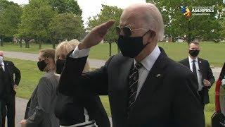 SUA: Joe Biden a avut prima apariţie publică după peste două luni