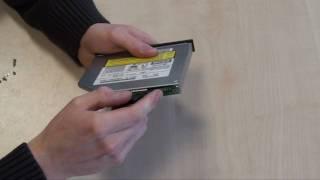 preview picture of video 'Einbaurahmen für Optisches Laufwerk / DVD-Brenner tauschen (Notebook / Laptop)'