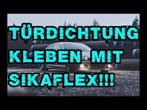 BMW e46 Türdichtung Kantenschutz kleben mit Sikaflex 252i Sika Dichtung löst sich
