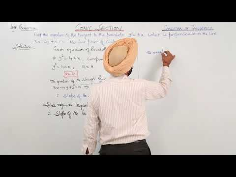 267. ICSE MATH XII - Chapter 4 - Condition Of Tangency - L4 - Important Question