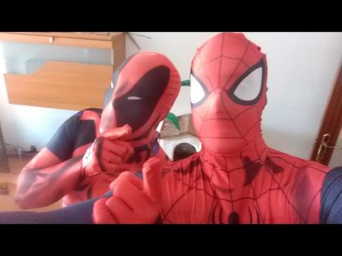 morphsuit spiderman deadpool review impresiones con chema