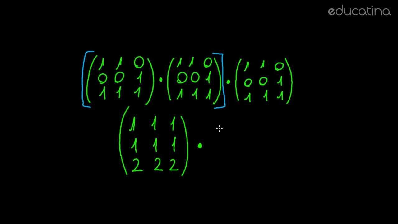 Educatina - Potencia en matrices