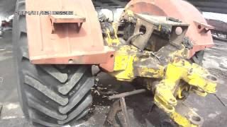 Замена задней полу-рамы и пром-опоры трактора К-700А