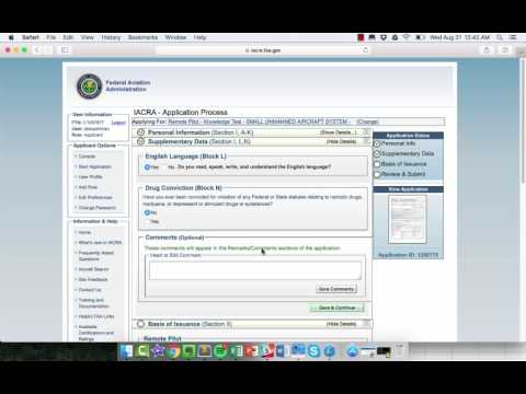Using IACRA & Applying for Remote Pilot Certificate - YouTube