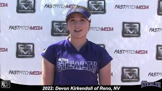 2022 Devon Kirkendoll Power Hitting Catcher and Third Base Softball Skills Video - Nevada Stealth