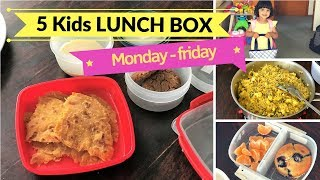 5 Kids LUNCH BOX ideas ( for Monday to Friday ) - Healthy lunchbox ideas for school