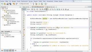 Entrada de datos en Java a través de la libreria java.io.BufferedReader en la Consola de NetBeans