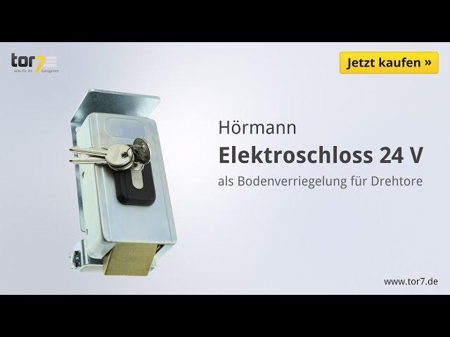 Produktvideo Hörmann Elektroschloss 24 V als Bodenverriegelung für Drehtore