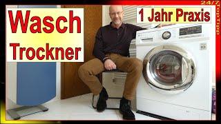 2 in 1 Waschtrockner ✔ 1 Jahr Praxistest - Platz sparend, effizient [ günstig waschen ] 24/7 TopTipp