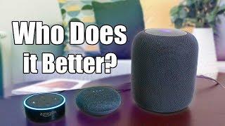 Siri Homepod Vs Alexa Echo Vs Google Home - Which is The Best Voice Assist