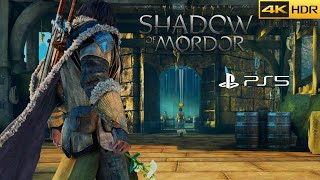 Middle-earth: Shadow of Mordor 4K Ultra-HD HDR Playstation 5 / PS5 Gameplay