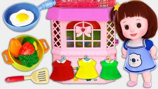 Baby Doli and bed room  house and kitchen baby doll toys story