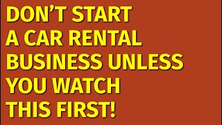 How to Start a Car Rental Business   Including Free Car Rental Business Plan Template