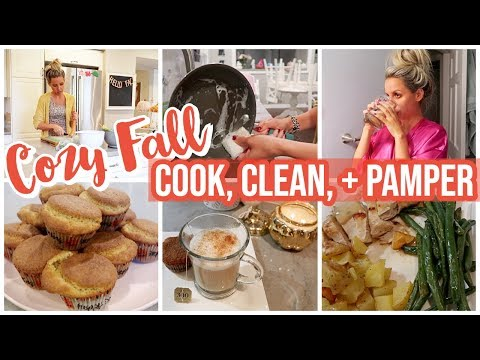 *NEW* COZY FALL NIGHT COOK WITH ME, CLEAN WITH ME, + PAMPER ROUTINE